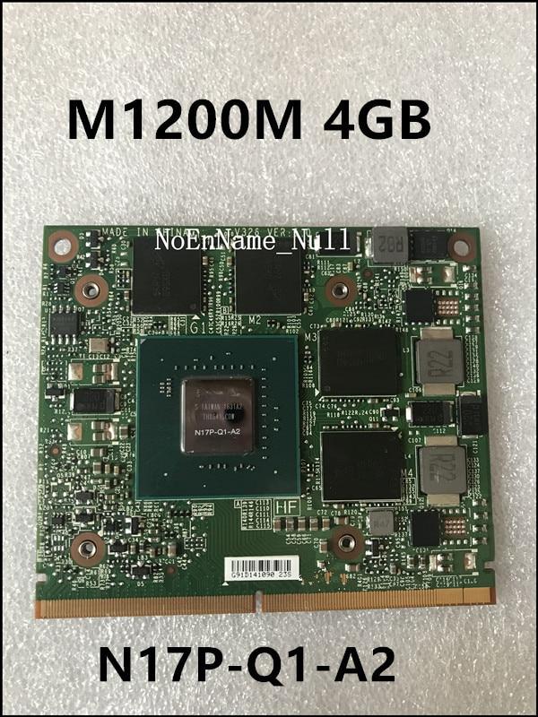 M1200M CN-0RD3JG 0RD3G N17P-Q1-A2 4G VGA tarjeta gráfica de vídeo para Pavilion Zbook 15 G3 17 G3 precisión M7510 M4800