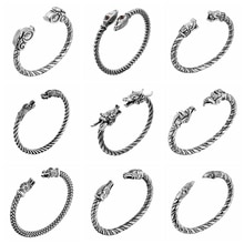 CHENGXUN Viking Bangle for Men Boys Bracelets Dragon Norse Jewelry Accessories Screw Nail Bangle Punk Gothic Jewelry Charm Gift