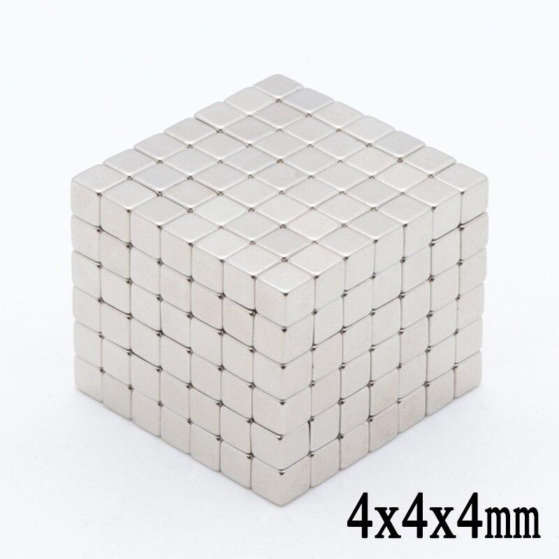 200pcs 4 x 4 x 4 mm Mini Small Super Strong 4*4*4 Block Permanent Neodymium Magnet Rare Earth N35 Mangets