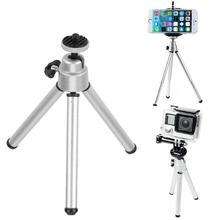 Портативный мини штатив с винтовой шариковой головкой 1/4 для iPhone, Xiaomi, Huawei, телефона, алюминиевый штатив, настольный штатив для камеры Gopro