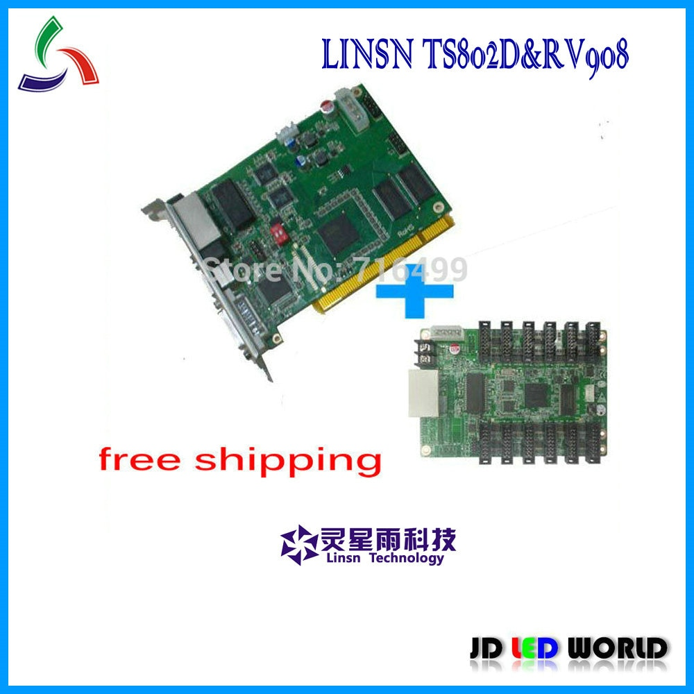 Linsn senden karte TS802 und Linsn erhalt karte RV908M voll farbe video led-display-controller