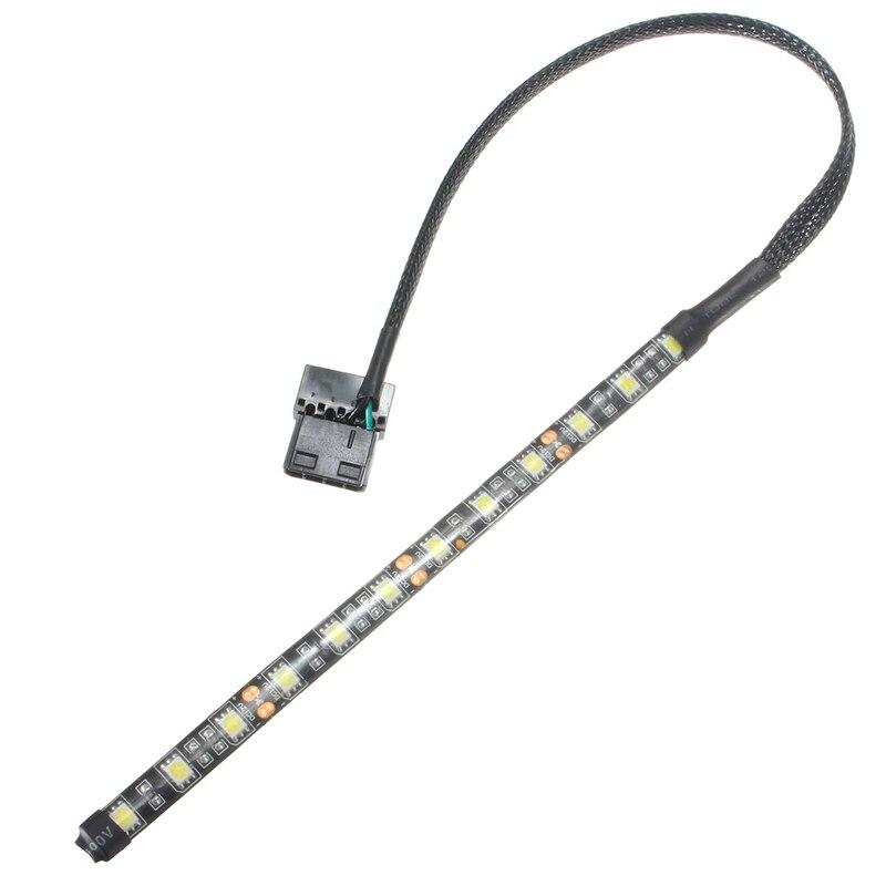 Neon Adhensive Waterproof 4 Colors 4 Pin 5050 SMD 12 LED Strip Light 12V DC Dustproof Computer Case Flexible Lamp