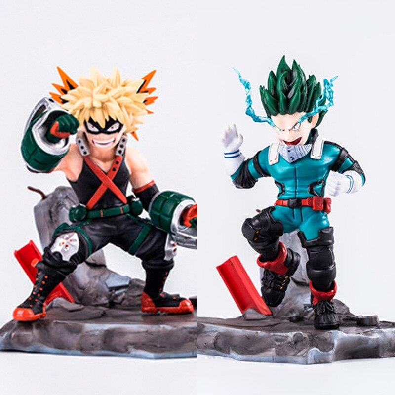 Nuevo 15cm My Hero Academia bakugou katsuki Midoriya Izuku figuras de acción de juguete muñeca regalo de Navidad con caja