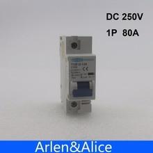 Disjoncteur 1P 80A DC 250V   Disjoncteur pour système PV C courbe MCB