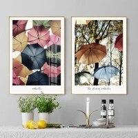 Toile de parapluie coloree moderne a la mode  affiche et imprimes  photos dart murales pour filles  pour chambre a coucher  salon  decoration de maison