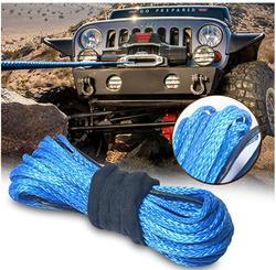 Frete Grátis 10MM x 15M Azul Corda Sintética Do Guincho Cabo de Linha de Corda UHMWPE vertente 12 off-road corda de reboque para ATV/UTV/SUV/4WD