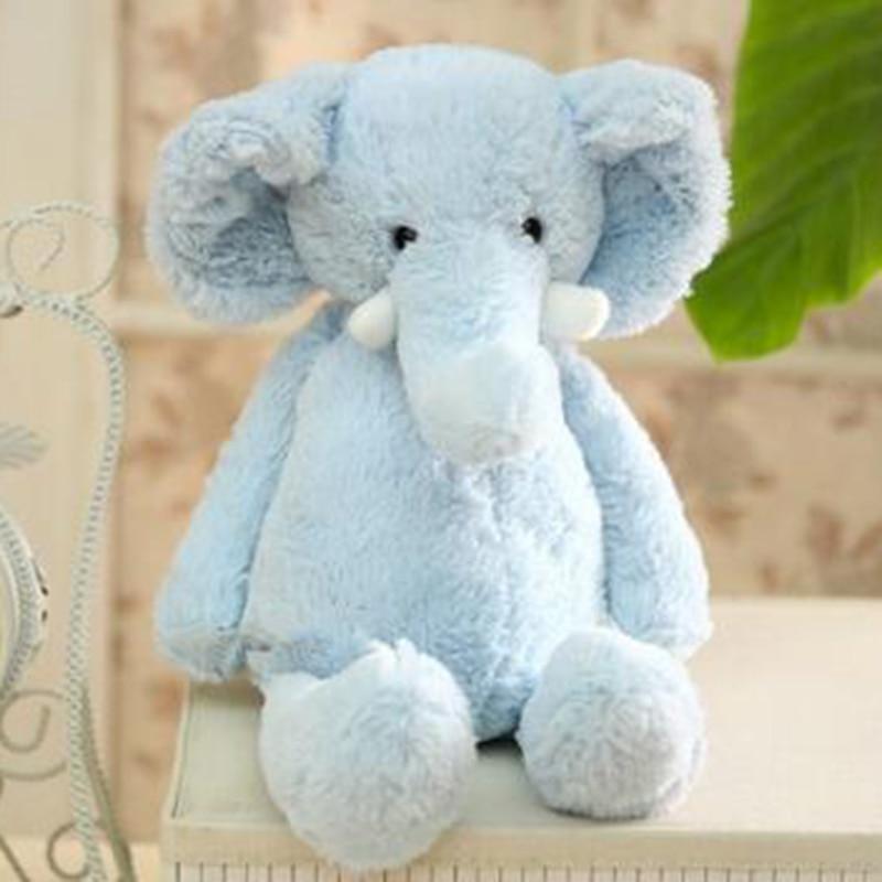 25 cm Plush Elephant Stuffed Animal Plush Toy Cute Soft Cartoon Animal Cute Pillow Christmas Gift for Children