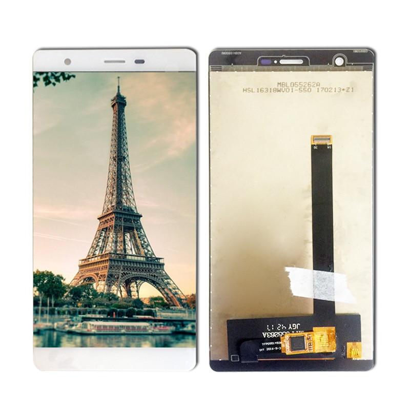 5,5 pulgadas Blanco/negro para Oukitel U13 pantalla LCD y pantalla táctil Montaje del digitalizador de pantalla reemplazo