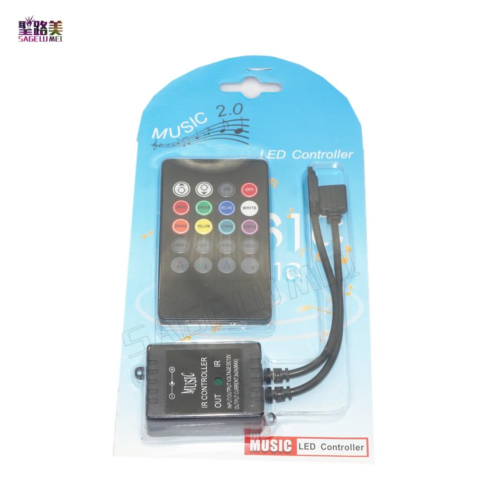best price 1 pcs DC12V LED Music IR Controller 20 Keys IR Remote RGB Controllers