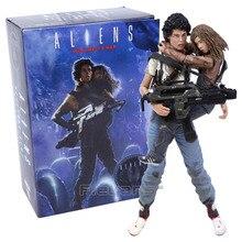 """NECA Alien 2, esta vez es la guerra, Ellin Ripley y Newt, figura de acción PVC del 30 aniversario, modelo de juguete coleccionable, 2 paquetes de 7 """"18 cm"""