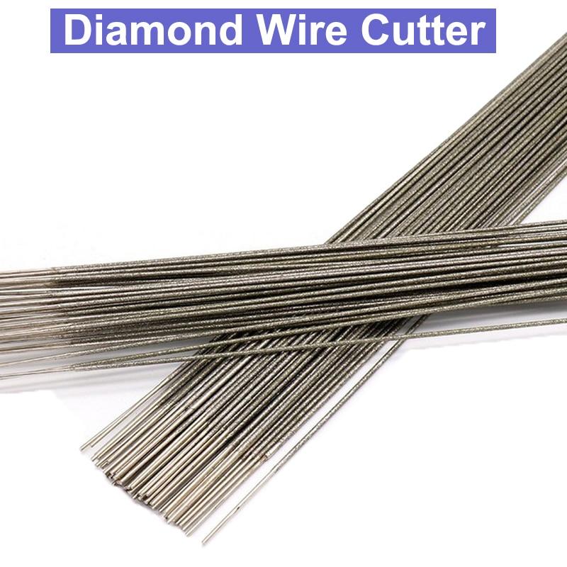 400mm Diamond Wire Saw Blade Cutter Jade Amber Sapphire Cutting Saw Blade Tool Saw Blades Cutting Metal Wire 1.0mm 1.2mm 1.5mm