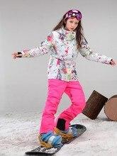 Nouvelles femmes impression ski costume femme snowboard ski costume dames imperméable à leau coupe-vent patinage neige costume hiver vêtements de sport