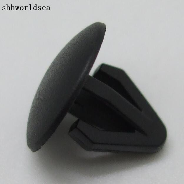 Shhworldsea automotive fastener clips de plástico para nissian 62869-N4700 encaixa 6mm buraco