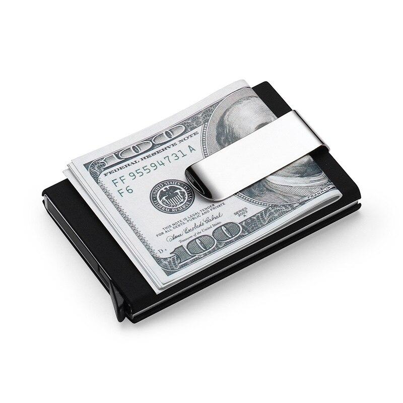 Carteras para tarjetas de crédito de alta calidad para hombre, juegos automáticos de tarjetas de aluminio para negocios, juegos de tarjetas de cartera, soporte de clip para efectivo