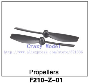 Free Shipping Original  Walkera F210 RC Helicopter Quadcopter spare parts F210-Z-01 Propellers 10 Pairs/ Set