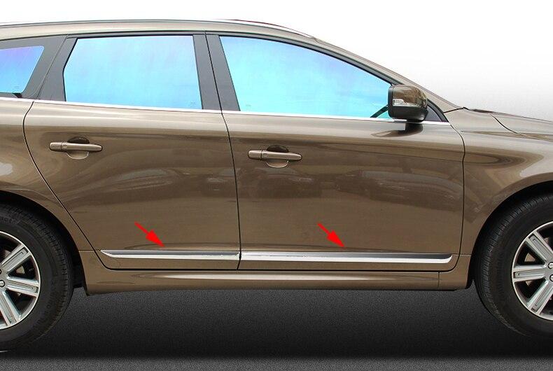 Embellecedor de cromo ABS para Volvo XC60 XC 60 2014 2015-2016, accesorios, cubierta de moldeado de carrocería de puerta lateral de coche, 4 unids/set