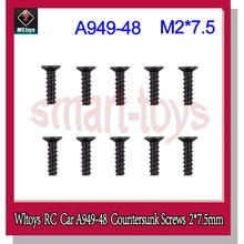 A949 Screw A949-48 Countersunk Head Tapping Screws Set 2*7.5mm for Wltoys A949 A959 A969 A979 RC Car