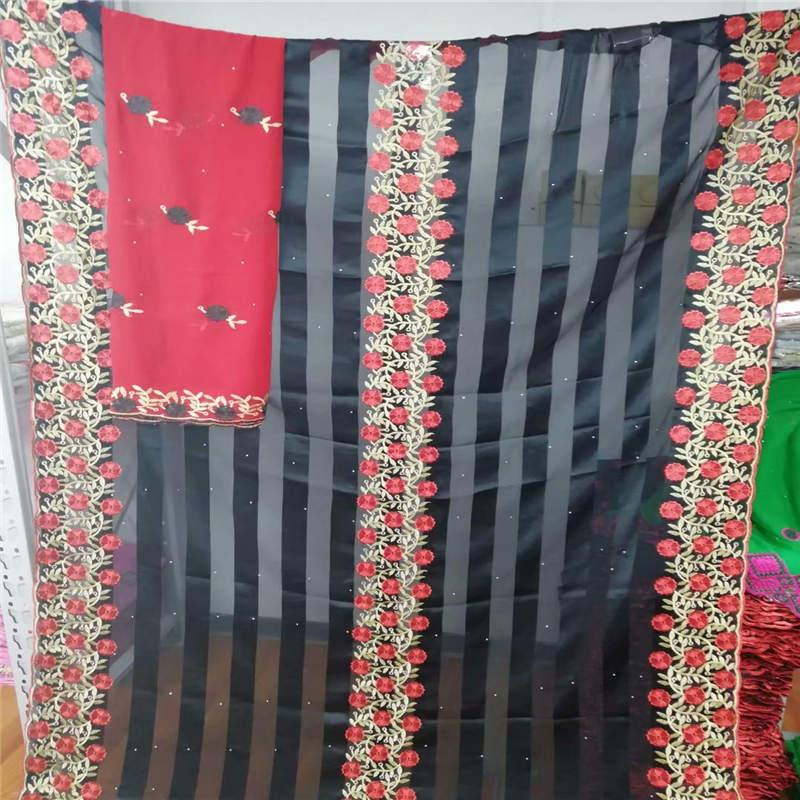 ¡Nuevo diseño! tela de seda africana de alta calidad de 5 + 2 yardas/conjunto para que las señoras usen tela de seda suave y cómoda! LYF716