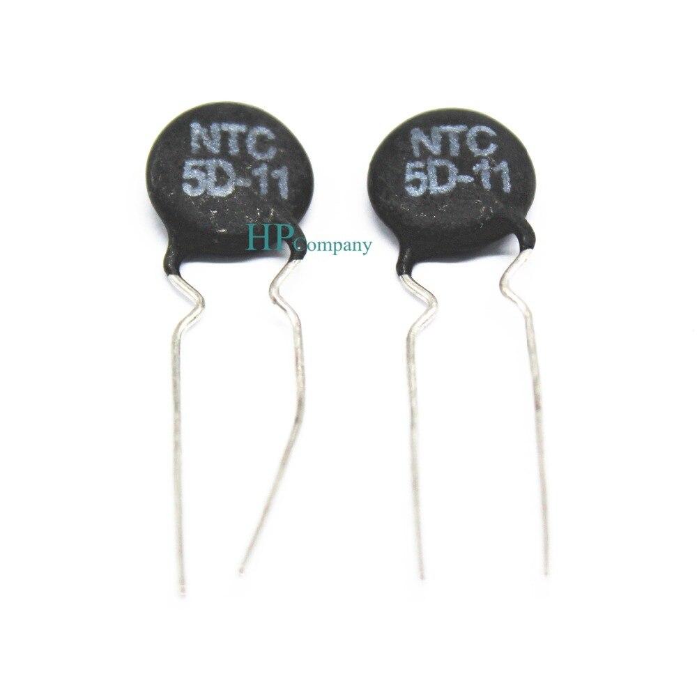 5 uds termistor NTC5D-11 5D-11 5D11 11MM temperatura negativo sensibilidad