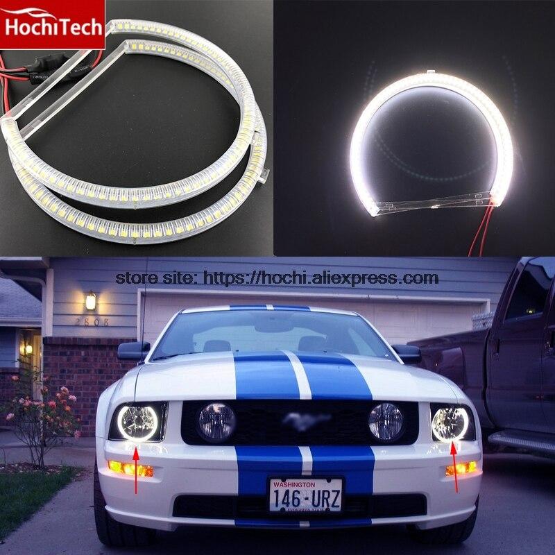 HochiTech SMD Ultra brillante LED blanco de Ojos de Ángel 2000LM 12V anillo de halo de luz diurna DRL para mustang 2010 de 2011 a 2012