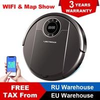 (From EU/RU) LIECTROUX ZK808 Robot Vacuum Cleaner WiFi App3KPA Suction Cleaning Map UV LampWet Dry MopBrushless Motor