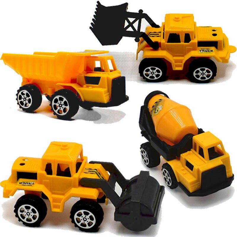 4 шт./лот инженерные строительные блоки для грузовиков, Набор игрушечных автомобилей, Строительство города, Обучающие сборочные игрушки, эк...
