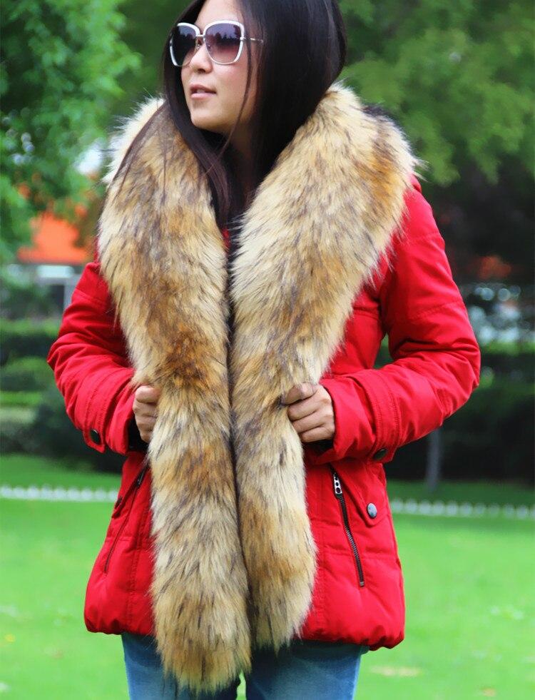 long women fur collar fake fox fur raccoon fur collar faux fur collar coat decor luxurious scarf winter multi color