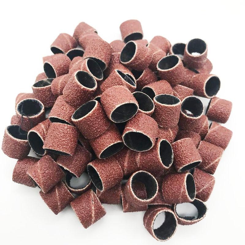 100 stks schuurbanden mouwen en 2 doornen slijpen elektrische polijsten schuurpapier cirkel