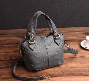 Patchwork Shoulder CrossBody Bags For Women Genuine Leather Handbags Women's Tote Bags Ladies Messenger Bag Bolsas Feminina
