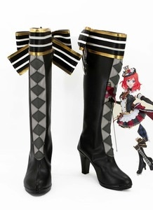 High Quality Love Live LoveLive! Maki Nishikino Cafe Maid Cosplay Boots Shoes High Heels Halloween Party Boot For Women Girls