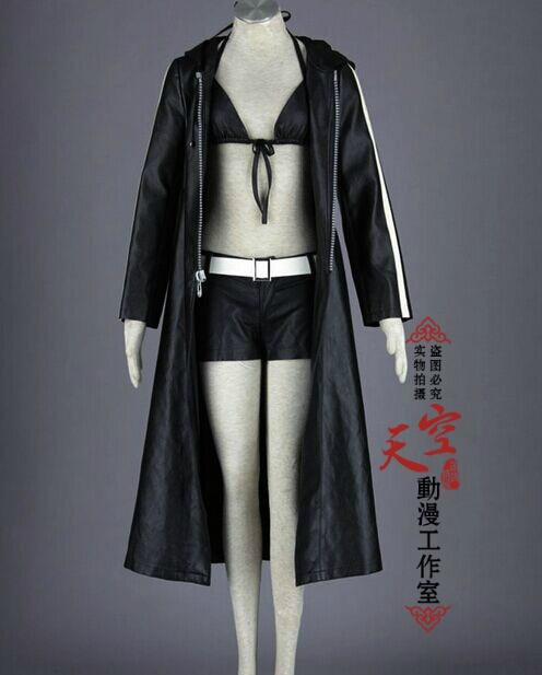 Free shipping New 2016 BLACK ROCK SHOOTER BRS MIKU Cosplay Costume