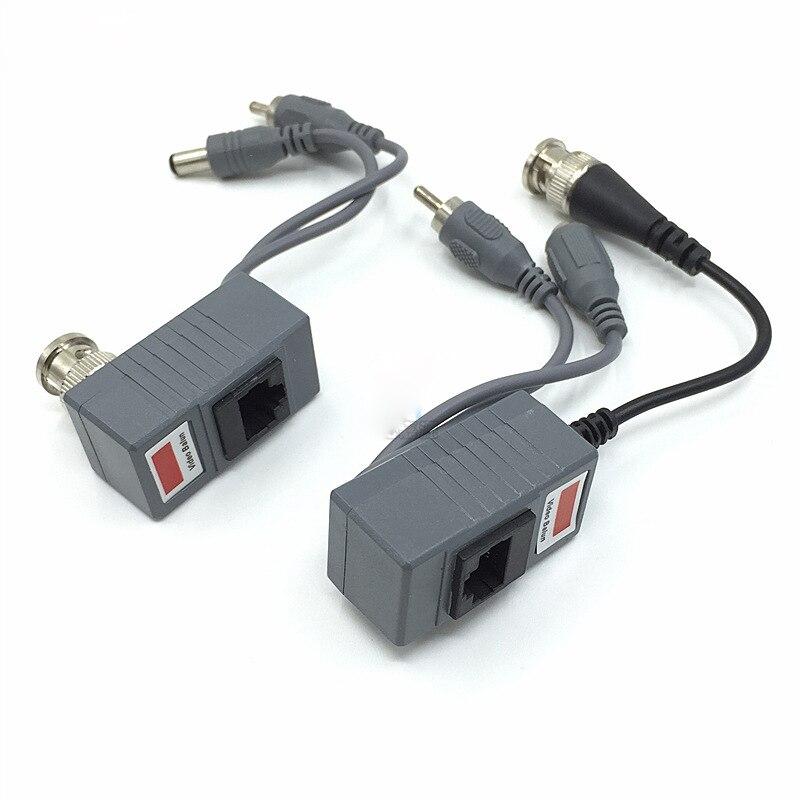 SSICON 5Pair CCTV CAT5/5E/6 Cable Balun CCTV BNC Video Balun Power Passive Balun Rj45 POE Power Video Audio enlarge