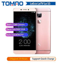 100% новый Letv LeEco Le S3 X626 4 аппарат не привязан к оператору сотовой связи мобильный телефон Deca Core, размер экрана 5,5
