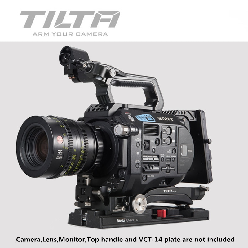 Tilta ES-T15-A FS7 RIG BS-T10 Baseplate+Shoulder Pad+MB-T05 4*4 lightweight matte box+FF-T03 Follow focus for Sony FS7 4k camera