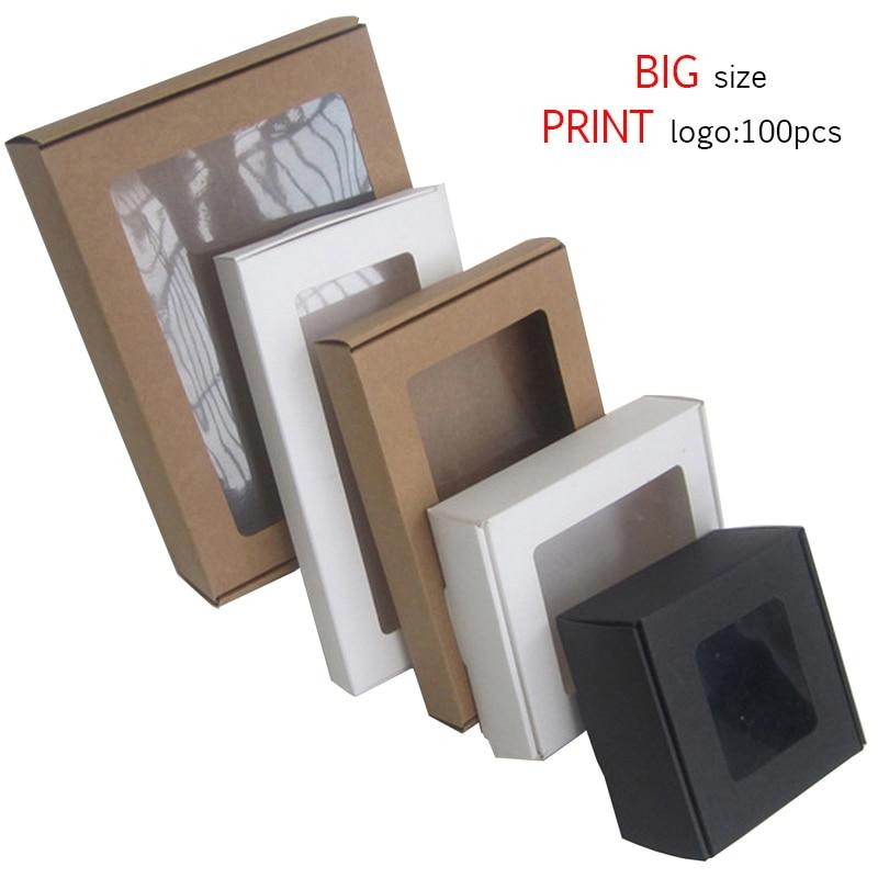 Caja De cartón Kraft De color negro para regalo, embalaje De papel...