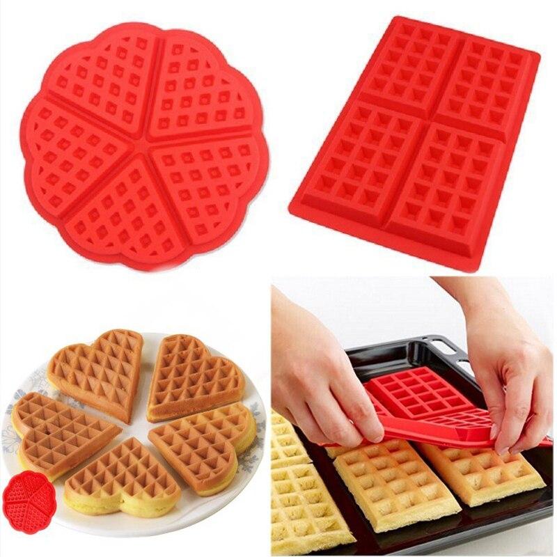 DIY силиконовая форма для вафель, антипригарная кухонная форма для выпечки, форма для торта для духовки, высокотемпературный набор для выпечки, жаропрочная посуда, инструмент для Кулинария