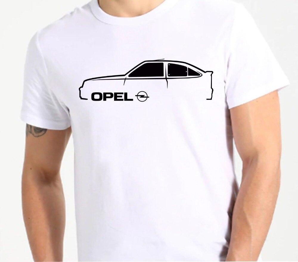 Camiseta de verano a la moda de 2019, leyenda clásica alemana para coche opel kadett. Pantalón corto Casual manga