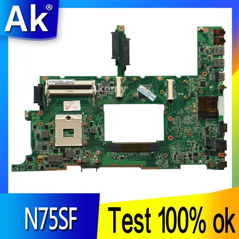 Ak n75sf placa-mãe do portátil para For Asus n75sf n75sl n75s n75 teste original mainboard