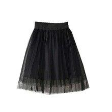 Dziewczyny spódnice wiosna jesień dzieci krótkie spódnice 3 warstwy gaza spódnice tutu koronki księżniczka moda spódnice jednolity kolor dla 2-8 lat