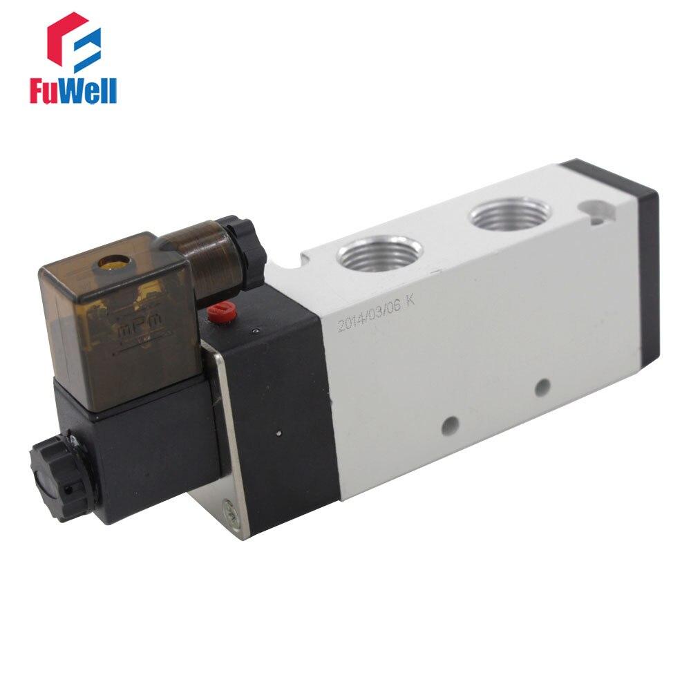 Pneumatic Solenoid Valve 4V410-15 AC110V 5 Ports 2 Positions PT1/2 Air Valve Aluminum Alloy Pneumatic Component