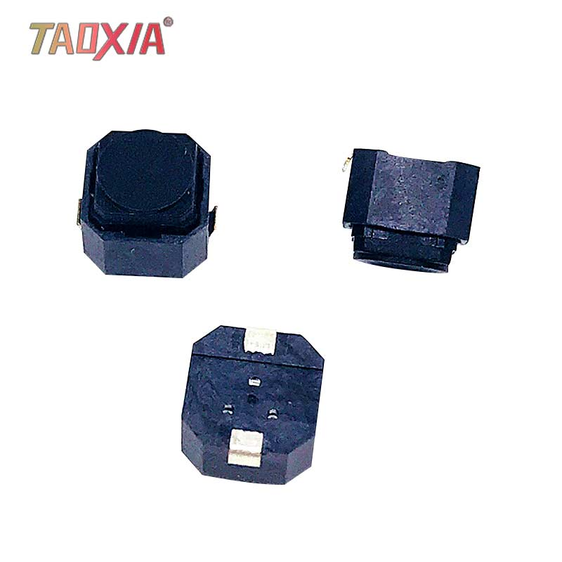 Parche Original de 6x6x5 MM botón silencioso de 2 pies interruptor de tacto de SW-PB de coche de silicona resistente al agua