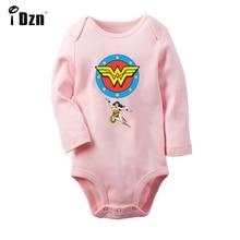 Wonder Woman Clock WW Superhero Golden Retriever dog Design Newborn Baby Bodysuit Toddler Long Sleeve Onsies Jumpsuit Clothes