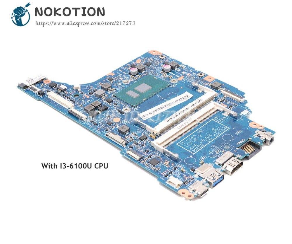 NOKOTION لشركة أيسر أسباير V3-372 V3-372T اللوحة المحمول I3-6100U CPU 15208-2 448.06J04.0021 NBG7C11002