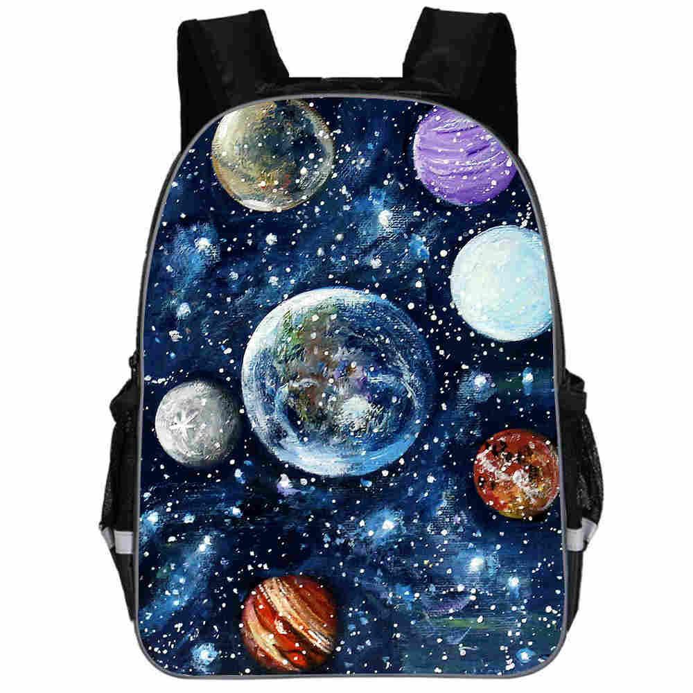 Mochila De galaxia espacio Solar universo para adolescentes niños niñas niño pequeño...