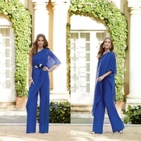 2019 chiffon jumpsuits mother of the bride dresses pants suits one shoulder evening gowns custom floor length a line prom dress