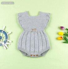 Roupas de bebê de malha inverno verão macacão de bebê plissado manga algodão recém-nascido macacão infantil do bebê da menina do menino macacão