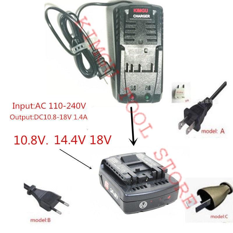 KIMGU ładowarka do obsługi Bosch 10.8 V 14.4 V 18 V ładowarka AL1860CV AL1814CV AL1820CV akumulator litowo-jonowy BC660 BAT609 BAT609G BAT618 ładowarka