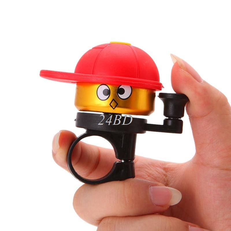 Mini Bicycle Bell Ring Cartoon Bike Hat Horn Loud Alarm Handlebar Metal Bell Ring Bicycle Accessories Random delivery O11