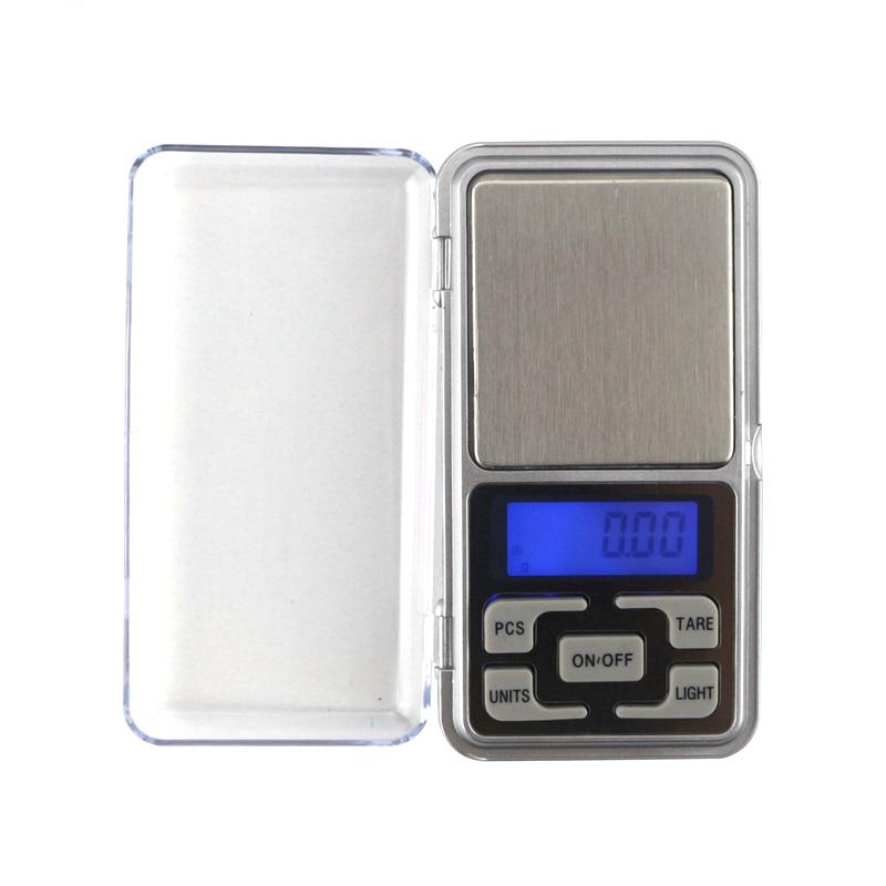 Mini balanza Digital de bolsillo 0,01g 200g 500g balanzas de joyería electrónicas oro Diamend equilibrio laboratorio escalas pantalla LCD