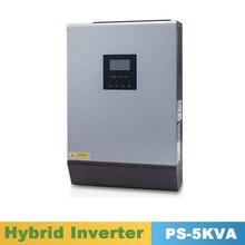 Inversor de onda sinusoidal pura 5000VA 4000W inversor híbrido 48VDC entrada 220VAC salida con PWM Cargador Solar controlador 50A